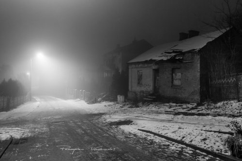 Ulica Nowokolejowa na wysokości ul. Ostatni Grosz w kierunku ul. Sienkiewicza